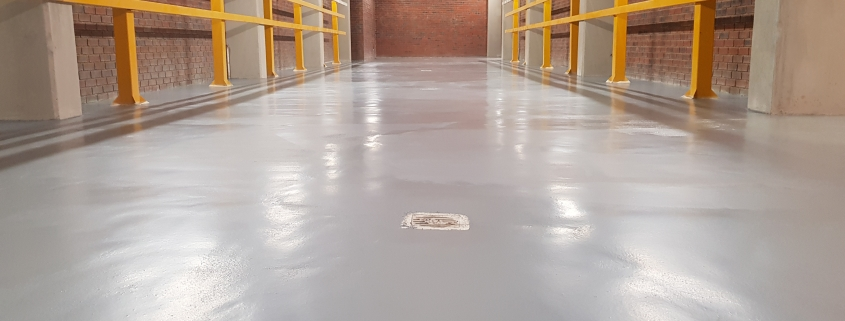 Polyurethane floor in GUD Batery Bay