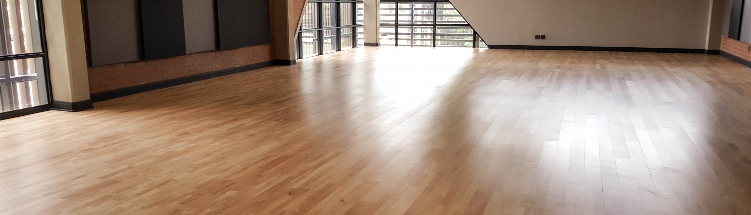 Market Theatre Solid wood sprung sports floor